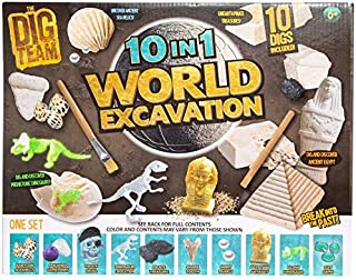 Dig Team World Excavation 10 in 1 Kit, for Fun Learning Entertainment Game