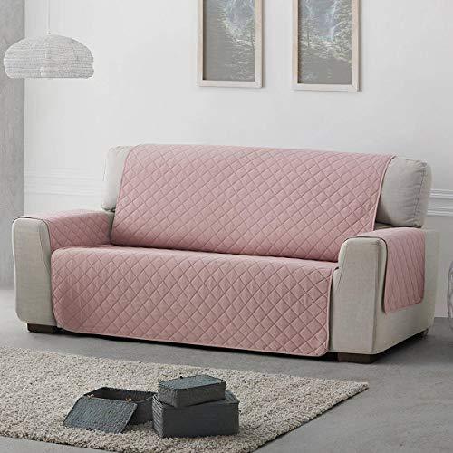 Belmarti Funda sofá Acolchado Sweet - Práctica - 3 plazas Plus - Color Rosa