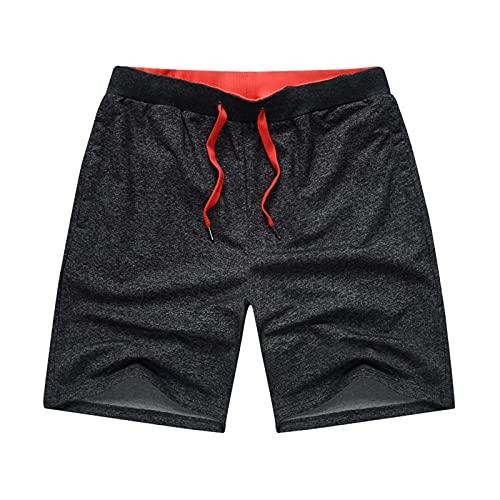Pantalones cortos de playa deportivos casuales con bolsillos con cremallera, ligeros, transpirables, cómodos, para el trabajo, pantalones cortos