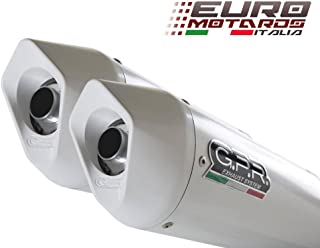 Ducati Monster 600-620-695-750-900-1000 GPR Exhaust Systems Dual Albus White Silencers Road Legal