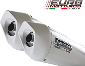 Ducati Multistrada 620 2005-2007 GPR Exhaust Systems Dual Albus White Silencers Road Legal