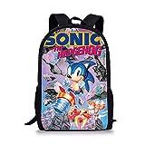 Sonic Mochila Mochila Fresca Sonic Patrón Niños Bolsas De La Escuela Dibujos Animados El Erizo Diseño Niños Y Niñas Mochila Libro Bolsas