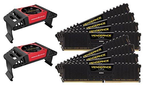 Corsair Vengeance LPX 64GB (8x8GB) DDR4 4133MHz C19 XMP 2.0 High Performance Desktop Arbeitsspeicher Kit (mit Airflow Kühlung) schwarz
