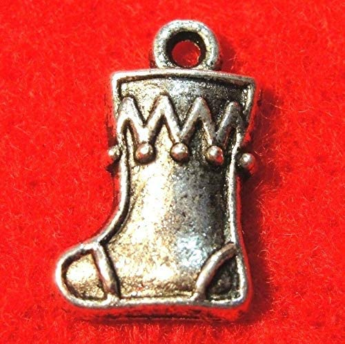 50Pcs. Sale Special Price Max 84% OFF WHOLESALE Tibetan Silver Christmas Charms E BOOT STOCKING