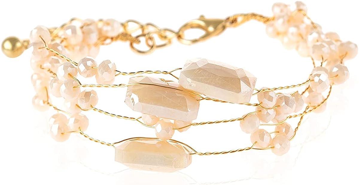 Bohemian Multi Layer Beads Pendant Charm Stack Friendship Bracel