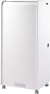 SIMMOB ORGA Armoire Informatique Mobile 2 Tiroirs Coloris Alu, Bois, Blanc, 53,2x65,2x139,9 cm