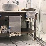 Buld&Co. Juego de Toallas turcas 100% algodón – Peshtemal Hammam baño Playa Toalla de Viaje – Absorbente Ligero Secado rápido Natural – 35'x70' XL Toalla de Manos 40,64 cm x 91,44 cm