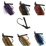 32886 Bass Jigs for Bass Fishing Pack Bulk Set Kit Flipping Jigs Weedless Jigs Swim Jigs Pitching Jigs Football Jigs...