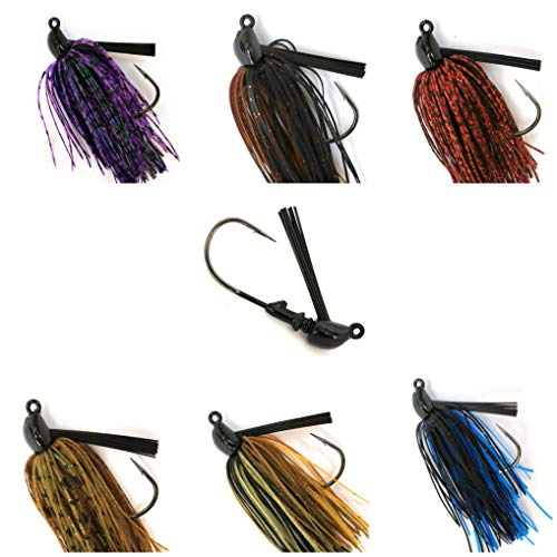 Wtrees 1/2oz Best Bass Jigs Football Flipping Swimming Pitching Jigs for Bass Fishing (Bass Jigs #328866-14)