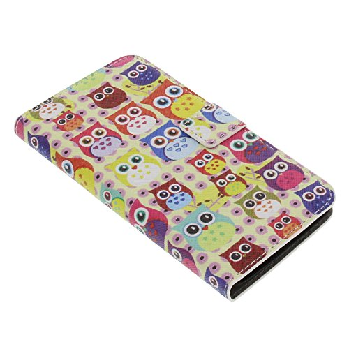 Tasche für Wiko Bloom Book Style Eulen Schutz Hülle Buch