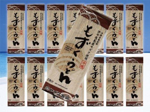 沖縄磯割り もずくうどん160g(2食分/つゆ無し)15束