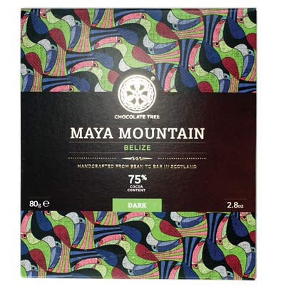 Chocolate Tree, Maya Mountain Belize 75%, Schokoladentafel, Schottland, Sparset, [2 x 80g.]