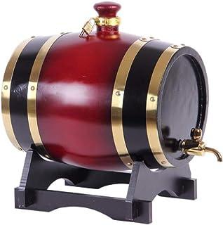 Tonneau de vin, Distributeur de fûts à vin en bois de chêne, fût de stockage de whisky Wine Spirit avec robinet métallique...