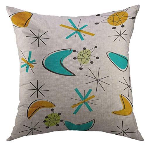 N\A Dekorative Kissenbezug für Couch Sofa, Retro Eames Atomic Era Inspiriertes Design Mid Century Modern Home Decor Kissenbezug