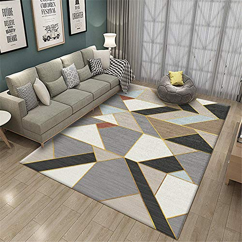 RUGMYW Suave Y Confortable alfombras Salon Grandes Patrón geométrico Gris Negro Beige Rojo Azul Amarillo alfombras de Entrada 45X75cm