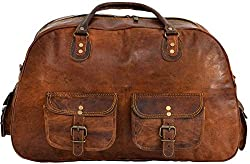 (20) Shakun Leather New Vintage Travel Duffel Shoulder Gym Weekend Bag  AMAZON For DETAILS click on image 6abb1919ddc65