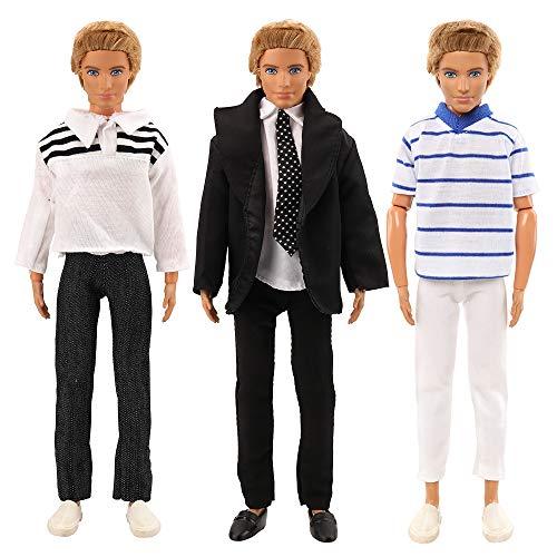 Miunana 3 Set Fashionistas Tops und Hosen Kleidung für Puppen