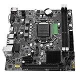 Tosuny Placa Base LGA 1155, Placa Base para computadora de Escritorio USB3.0 SATA DDR3 1066/1333/1600/1866 Placa Base para Intel B75, Interfaz Dual USB3.0, Soporte VGA + Salida Dual HDMI