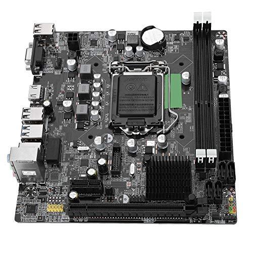 Tosuny LGA 1155 Motherboard, Desktop-Computer Motherboard USB3.0 SATA DDR3 1066/1333/1600/1866 Motherboard für Intel B75, Dual USB3.0-Schnittstelle, Unterstützung von VGA + HDMI Dual Output