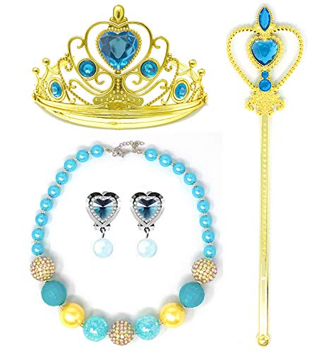 Princess Cinderella Dress up Party 4-Piece Accessories Gift Set (Jasmine)
