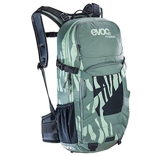 EVOC Sports GmbH Damen Fr Enduro Women Protektor Rucksack, Olive/Light Petrol, 56 x 27 x 11 cm, 16 Liter
