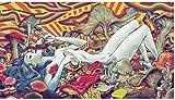 Lienzo De Impresión 23.6'x35.4'(60x90cm) Mujer acostada sobre un montón de Setas Imagen y Trabajo de decoración del hogar de la Sala de Estar Sin Marco