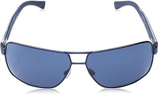 امبوريو ارماني نظارات شمسية للجنسين , مقاس 64 مم , ازرق