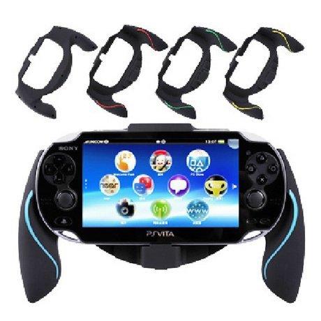 Aweek Bracket Handgrip Handle Grip Case for Playstation Vita 1000 PSVita PS Vita (Blue)
