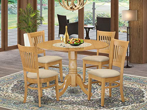 5 Pc small Kitchen Table set-drop leaf Table and 4 dinette Chairs