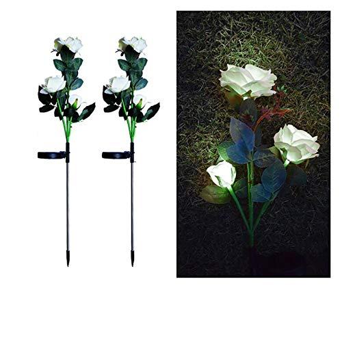 Gartendeko Licht, 2pcs Solar Rose Blumen Lichter, Solarlampen...
