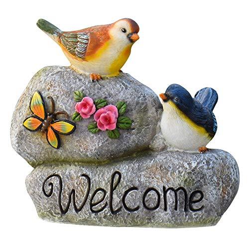LQO Decoración De Exteriores Creativa decoración del jardín de Flores de Aves Animales Jardín Accesorios Resina Ornamento del jardín Duradero (Color : C2, Size : As Shown)