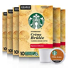 FLAVOR AND ROAST: Starbucks Crème Brûlée is smooth and complex with a sweet creaminess PACKAGING CHANGE: We are changing our packaging to make our K-Cups recyclable as part of our commitment to sustainable practices. You may receive either package fo...