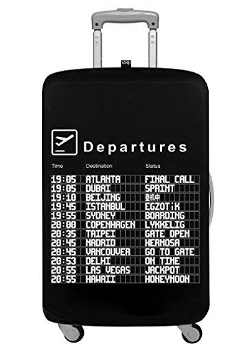 LOQI Artist Airport Arrivals Luggage Cover, Size - Medium Organizer per valigie, 65 cm, Multicolore (Multicolour)