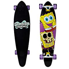 COMPLETE SKATEBOARD: Complete 36 in. Longboard skateboard with a thick, durable 8-ply maple wood deck and 8.75-in. super wide shape DESIGN MINDED: Rounded pin tail longboard for smooth  arcing turns and effortless ride. SMOOTH RIDE: 65mm x 40mm poure...