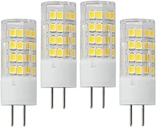 VWV GY6.35 LED Bulbs 5W 120V (45W Halogen Bulbs Equivalent), 360° Beam Angle G6.35 Bi-pin LED Dimmable Warm White 3000K (4-Pack)