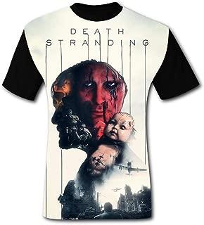 BUZAILIANX Men's DEA-th Str-anding Roles 3D Print Classic Short Sleeve T-Shirt