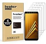ivoler [Pack de 4] Verre Trempé Compatible avec Samsung Galaxy A8 2018, Film Protection en Verre...