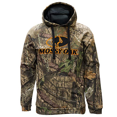 Staghorn Mens Camo Logo Hoodie, Mossy Oak Breakup Country, Medium