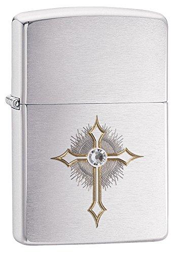 Accendino Zippo Cross Con Cristallo Swarovski *00371 Pelusciamo Store