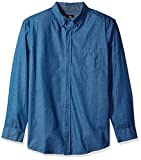 LEE Men's Long Sleeve Chambray Button Down Shirt, Navy, X-Large