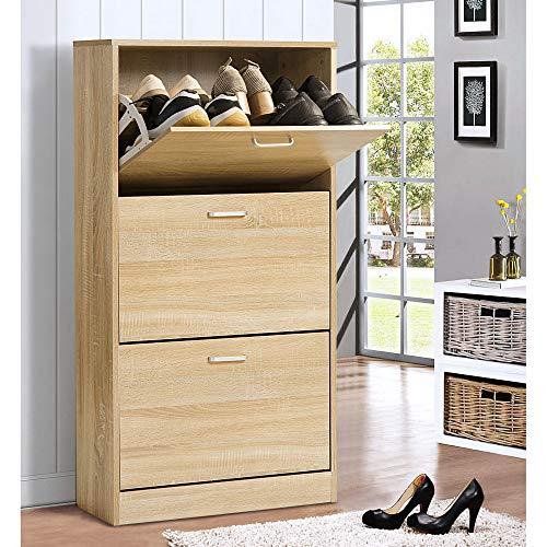 Keebgyy Dynamic24 - Zapatero (6 compartimentos, madera)