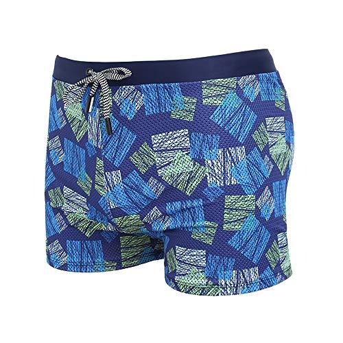 BRQ Mens'Athletic Zwemmen afdrukken Trunks Boxer Brief Jammers Quick Dry CompressionTight Zwemmen Korte Trunks Zwempak