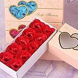 Bebliss 10 Stücke Künstliche Duftende Rosenblätter Bouquet Geschenkbox Bad Körper Blume Seife...