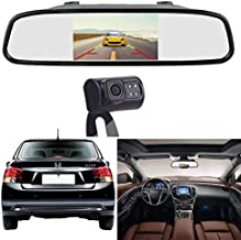 Amtifo Backup Camera For Cars,Pickups,Trucks,Easy Installation HD 720P High-Speed Observation System With 4.3'' Mirror Monitor,Adjustable Rear/Front View Camera,Super Night Vision,Guide Lines On/Off