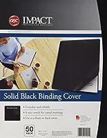 GBC Solids Standard Presentation Covers, Non-Window, Square Corners, Black, 50 Pieces Per Box (2514493) [並行輸入品]