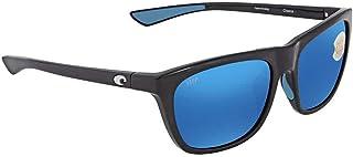 Costa Del Mar Cheeca CHA11OBMP Unisex Black Resin Frame Blue Mirror Lens Wrap Sunglasses
