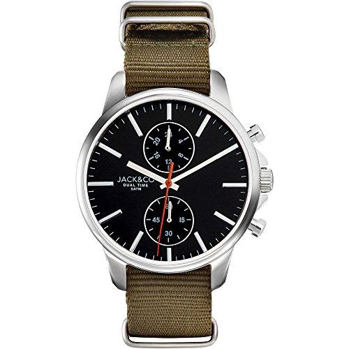Orologio JACK & CO. Jack Watches Chrono in acciaio e canavas - JW0151M2