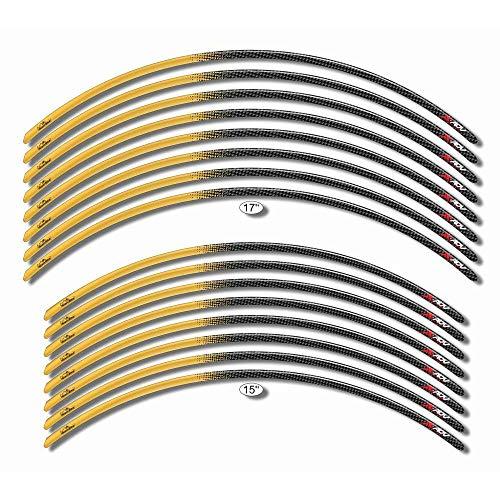 Bandes Adhésif 3D Compatible avec Roues Honda X-ADV - Carbone Or