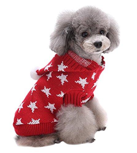 AIYUE® Weihnachten Hundemantel Pet Kostüm Halloween Haustiere netten Pullover Hundepullover Mantel Jumper Coat Hundejacke Hund Hoodie Kapuzenjacke Bekleidung mit 5 Muster