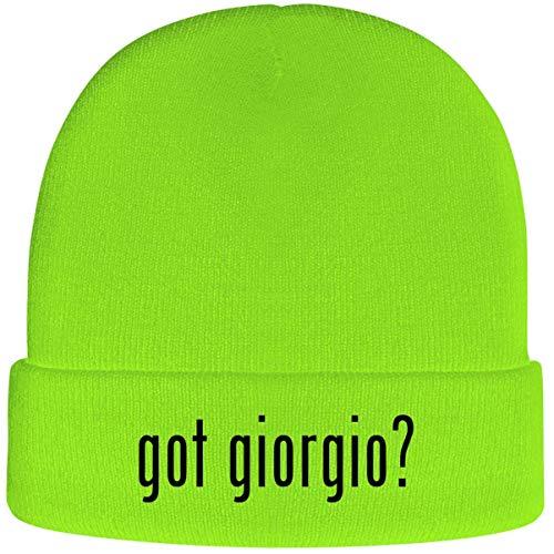 got Giorgio? - Soft Adult Beanie Cap, Neon Green